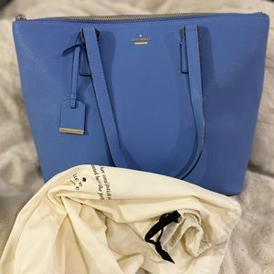 Kate Spade Tote Bag & Dust Cover Bag (Baby Blue)🦋